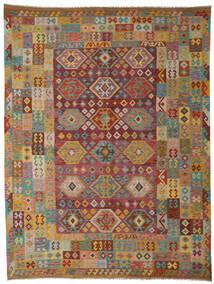 Kilim Afghan Old Style Tappeto 265X347 Orientale Tessuto A Mano Marrone Scuro/Marrone Chiaro Grandi (Lana, Afghanistan)