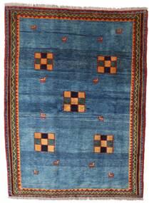 Gabbeh Rustic Tappeto 186X249 Moderno Fatto A Mano Blu/Blu Scuro (Lana, Persia/Iran)