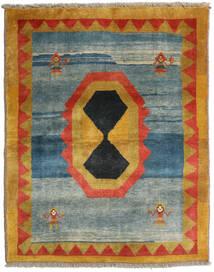 Gabbeh Rustic Tappeto 114X143 Moderno Fatto A Mano Blu/Marrone Chiaro (Lana, Persia/Iran)