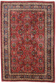 Mashad Tappeto 196X292 Orientale Fatto A Mano Rosso Scuro/Marrone Scuro (Lana, Persia/Iran)