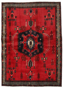 Afshar Tappeto 169X236 Orientale Fatto A Mano Rosso/Marrone Scuro (Lana, Persia/Iran)