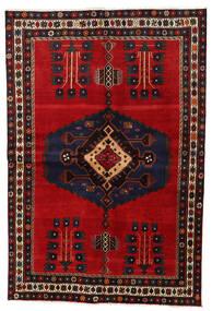 Afshar Tappeto 159X230 Orientale Fatto A Mano Marrone Scuro/Rosso Scuro (Lana, Persia/Iran)