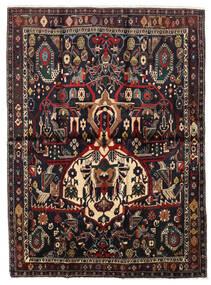 Afshar Shahre Babak Tappeto 136X185 Orientale Fatto A Mano Rosso Scuro/Marrone Chiaro (Lana, Persia/Iran)
