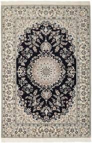 Nain 6La Tappeto 155X230 Orientale Fatto A Mano Grigio Chiaro/Blu Scuro (Lana/Seta, Persia/Iran)