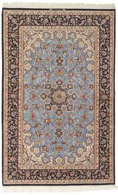 Isfahan Ordito In Seta Tappeto 156X239 Orientale Tessuto A Mano Grigio Chiaro/Marrone Scuro (Lana/Seta, Persia/Iran)