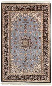 Isfahan Ordito In Seta Tappeto 155X248 Orientale Tessuto A Mano Grigio Chiaro/Marrone Scuro (Lana/Seta, Persia/Iran)