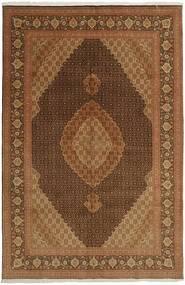 Tabriz 50 Raj Tappeto 196X301 Orientale Tessuto A Mano Marrone/Marrone Scuro (Lana/Seta, Persia/Iran)