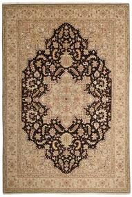 Tabriz 50 Raj Tappeto 200X294 Orientale Tessuto A Mano Marrone Chiaro/Beige Scuro (Lana/Seta, Persia/Iran)