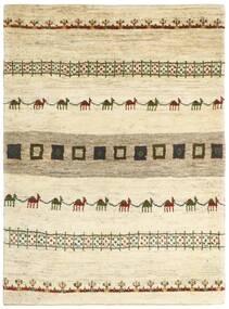 Gabbeh Persia Tappeto 128X179 Moderno Fatto A Mano Beige/Beige Scuro (Lana, Persia/Iran)