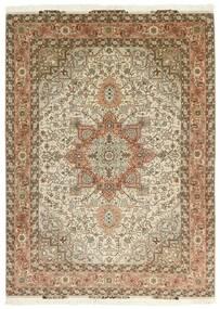 Tabriz 50 Raj Tappeto 151X213 Orientale Tessuto A Mano Marrone/Beige (Lana/Seta, Persia/Iran)