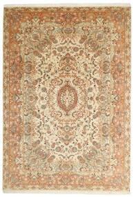 Tabriz 50 Raj Tappeto 205X297 Orientale Tessuto A Mano Beige/Marrone (Lana/Seta, Persia/Iran)