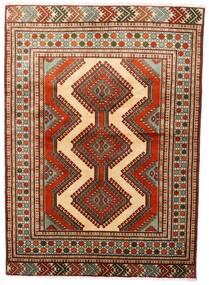 Turkaman Tappeto 125X172 Orientale Fatto A Mano Rosso Scuro/Marrone Scuro (Lana, Persia/Iran)