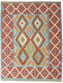 Kilim Afghan Old Style Tappeto 158X202 Orientale Tessuto A Mano Grigio Chiaro/Arancione (Lana, Afghanistan)