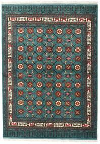 Turkaman Tappeto 136X187 Orientale Fatto A Mano Turchese Scuro/Grigio Scuro (Lana, Persia/Iran)