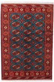 Turkaman Tappeto 132X195 Orientale Fatto A Mano Rosso Scuro/Nero (Lana, Persia/Iran)