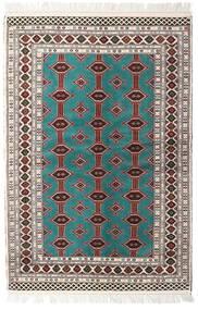 Turkaman Tappeto 135X198 Orientale Fatto A Mano Beige/Grigio Chiaro (Lana, Persia/Iran)