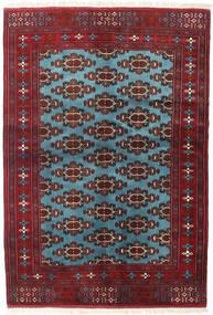 Turkaman Tappeto 133X190 Orientale Fatto A Mano Rosso Scuro/Blu (Lana, Persia/Iran)