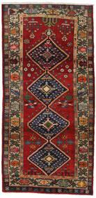 Hamadan Tappeto 105X215 Orientale Fatto A Mano Rosso Scuro/Nero (Lana, Persia/Iran)