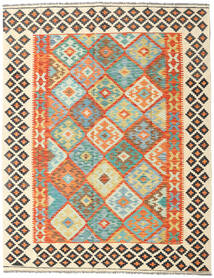 Kilim Afghan Old Style Tappeto 157X201 Orientale Tessuto A Mano Beige/Arancione (Lana, Afghanistan)
