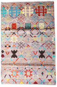 Moroccan Berber - Afghanistan Tappeto 119X177 Moderno Fatto A Mano Beige/Grigio Scuro (Lana, Afghanistan)