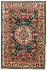 Kazak Tappeto 119X183 Orientale Fatto A Mano Grigio Scuro/Rosso (Lana, Pakistan)