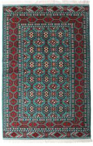 Turkaman Tappeto 140X208 Orientale Fatto A Mano Nero/Verde Scuro (Lana, Persia/Iran)