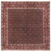 Bidjar Con Seta Tappeto 202X206 Orientale Fatto A Mano Quadrato Rosso Scuro/Marrone Scuro (Lana/Seta, Persia/Iran)