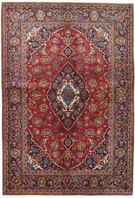 Keshan Tappeto 147X215 Orientale Fatto A Mano Rosso Scuro/Porpora Scuro (Lana, Persia/Iran)
