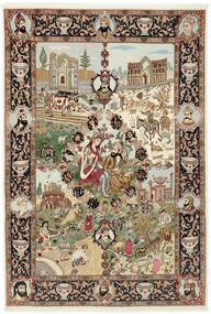 Tabriz 50 Raj Tappeto 150X219 Orientale Fatto A Mano Marrone/Marrone Chiaro (Lana/Seta, Persia/Iran)