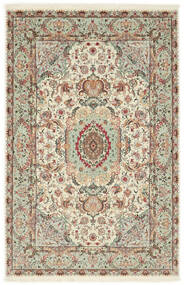 Tabriz 70 Raj Ordito In Seta Tappeto 100X152 Orientale Fatto A Mano Grigio Chiaro/Beige (Lana/Seta, Persia/Iran)