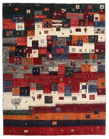 Gabbeh Persia Tappeto 167X213 Moderno Fatto A Mano Rosso Scuro/Nero/Marrone Scuro (Lana, Persia/Iran)