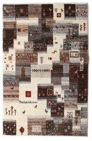 Gabbeh Persia Tappeto 87X137 Moderno Fatto A Mano Beige/Marrone Scuro/Grigio Chiaro (Lana, Persia/Iran)