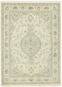 Tabriz 70 Raj Ordito In Seta Tappeto 150X202 Orientale Fatto A Mano Beige Scuro/Beige (Lana/Seta, Persia/Iran)