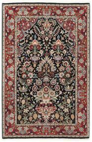 Ilam Sherkat Farsh Di Seta Tappeto 105X155 Orientale Fatto A Mano Rosso Scuro/Grigio Chiaro (Lana/Seta, Persia/Iran)