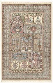 Ilam Sherkat Farsh Di Seta Tappeto 148X223 Orientale Fatto A Mano Grigio Chiaro/Beige (Lana/Seta, Persia/Iran)