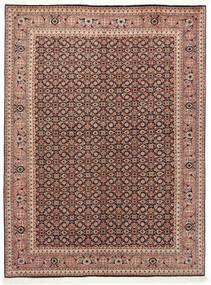 Tabriz 50 Raj Tappeto 150X200 Orientale Fatto A Mano Rosso Scuro/Marrone Scuro (Lana/Seta, Persia/Iran)