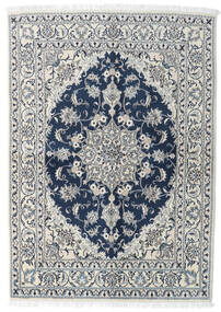 Nain Tappeto 143X200 Orientale Fatto A Mano Grigio Chiaro/Blu Scuro (Lana, Persia/Iran)
