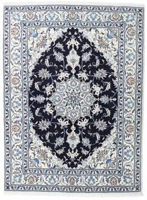 Nain Tappeto 148X190 Orientale Fatto A Mano Bianco/Creme/Azzurro (Lana, Persia/Iran)