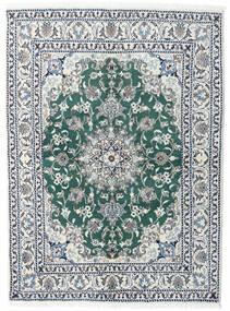 Nain Tappeto 145X198 Orientale Fatto A Mano Grigio Chiaro/Blu (Lana, Persia/Iran)