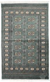 Pakistan Bukara 3Ply Tappeto 92X151 Orientale Fatto A Mano Grigio Scuro/Verde Scuro (Lana, Pakistan)