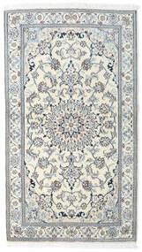 Nain Tappeto 121X212 Orientale Fatto A Mano Beige/Grigio Chiaro/Azzurro (Lana, Persia/Iran)