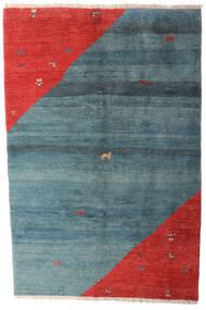 Gabbeh Rustic Tappeto 203X305 Moderno Fatto A Mano Blu/Ruggine/Rosso (Lana, Persia/Iran)