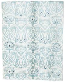 Sari Puri Di Seta Tappeto 153X200 Moderno Fatto A Mano Bianco/Creme/Azzurro (Seta, India)