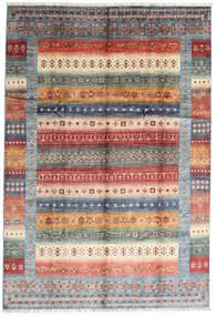 Shabargan Tappeto 207X305 Moderno Fatto A Mano Marrone Scuro/Grigio Chiaro (Lana, Afghanistan)
