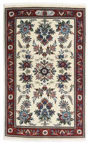 Saruk Tappeto 86X136 Orientale Fatto A Mano Beige/Marrone Scuro (Lana, Persia/Iran)