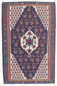 Kilim Senneh Tappeto 110X170 Orientale Tessuto A Mano Grigio Scuro/Porpora Scuro (Lana, Persia/Iran)