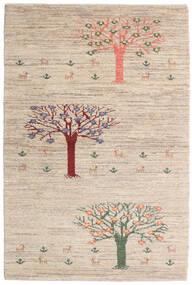 Loribaft Persia Tappeto 100X149 Moderno Fatto A Mano Grigio Chiaro/Beige (Lana, Persia/Iran)