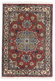 Tabriz 50 Raj Tappeto 62X90 Orientale Fatto A Mano Rosso Scuro/Marrone Scuro (Lana/Seta, Persia/Iran)