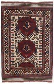 Kilim Golbarjasta Tappeto 85X135 Orientale Tessuto A Mano Marrone Scuro/Rosso Scuro (Lana, Afghanistan)