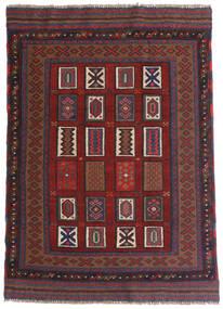 Kilim Golbarjasta Tappeto 115X140 Orientale Tessuto A Mano Rosso Scuro/Grigio Scuro (Lana, Afghanistan)